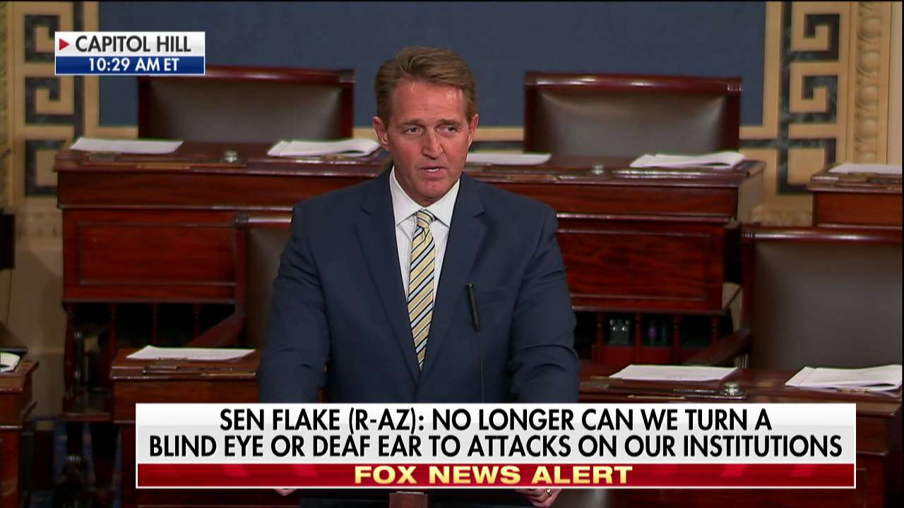 .@JeffFlake: 'Let us resolve to be allies in the truth and not partners in its destruction.' https://t.co/w9Qh4wc0XM