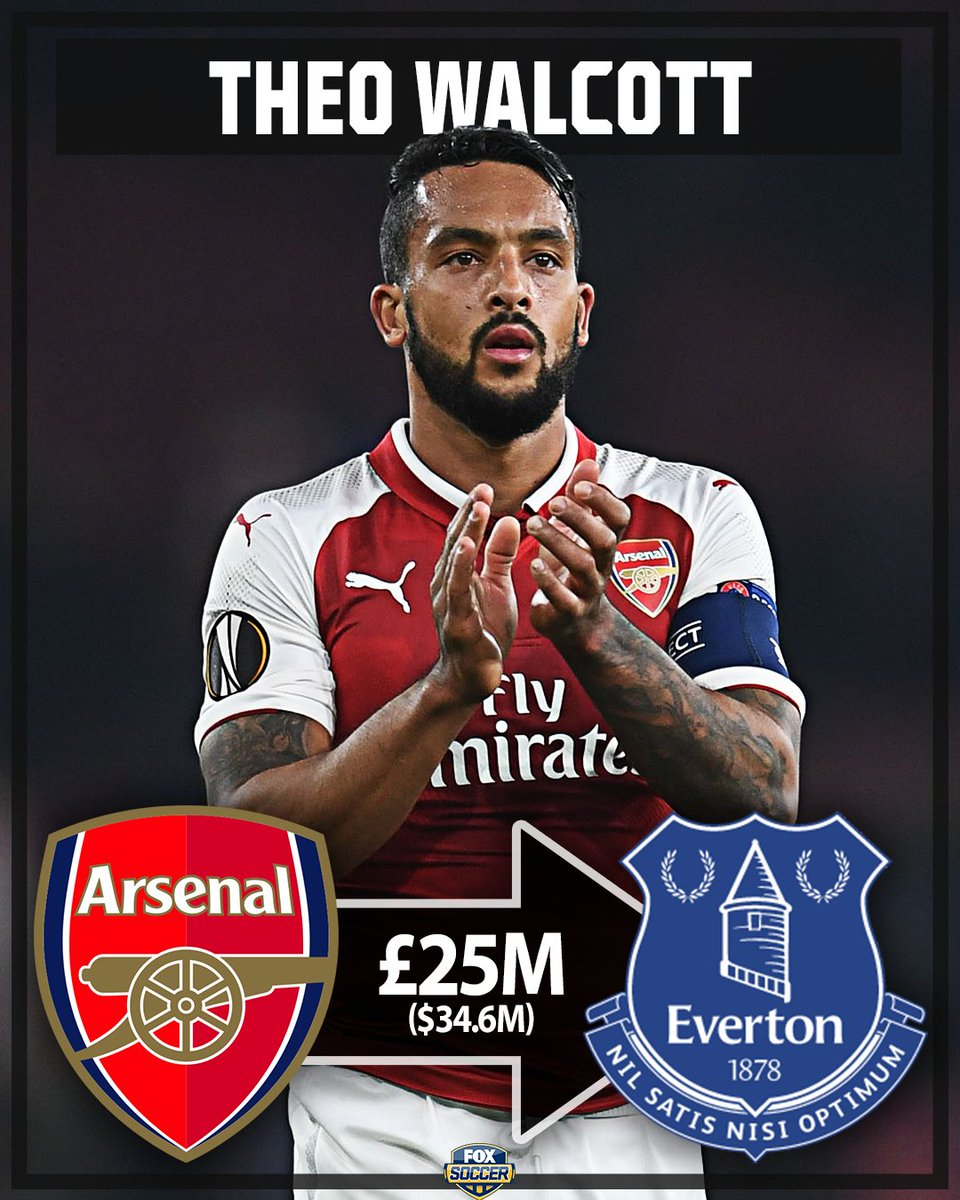 RT @FOXSoccer: Everton sign Theo Walcott for a reported £25m!   Is this a good signing for The Toffees? https://t.co/6wU9Qb1fv3
