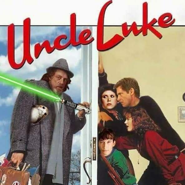 Uncle Buck / Luke Skywalker mashup. This is soooo funny! #unclebuck #uncleluke #lukeskywalker #starwars https://t.co/S7827OeR5I