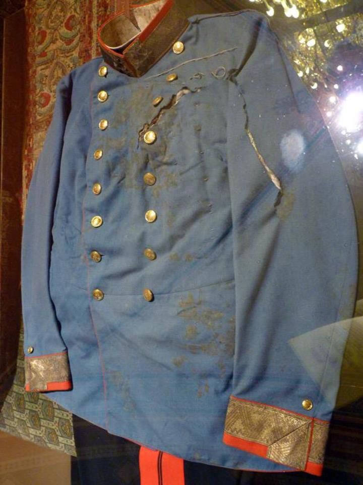The uniform worn by Archduke Franz Ferdinand during his assassination in 1914, the event that sparked World War I. https://t.co/ABf946KMjL