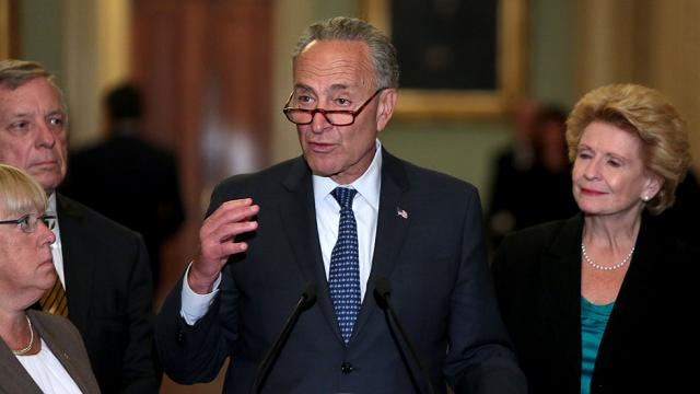 Schumer: 'Overwhelming majority' of Senate Dems oppose House GOP short-term spending bill https://t.co/74OXpDq2hD https://t.co/ww224Gx6ty