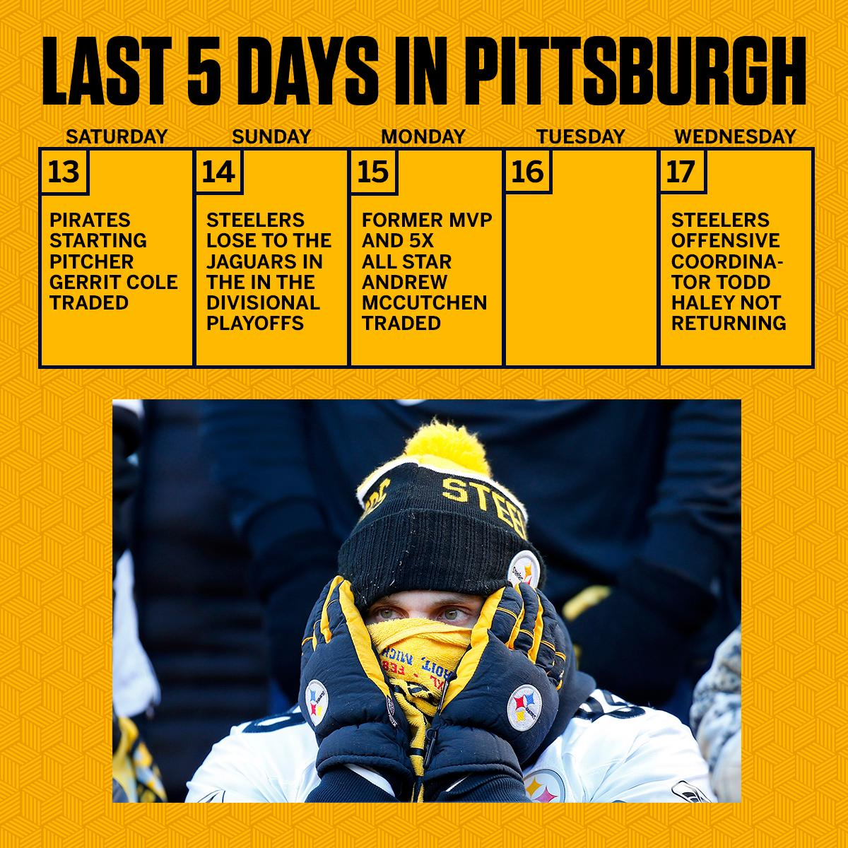 It's been a tough few days for Pittsburgh sports fans. https://t.co/hxQoS0eZHj