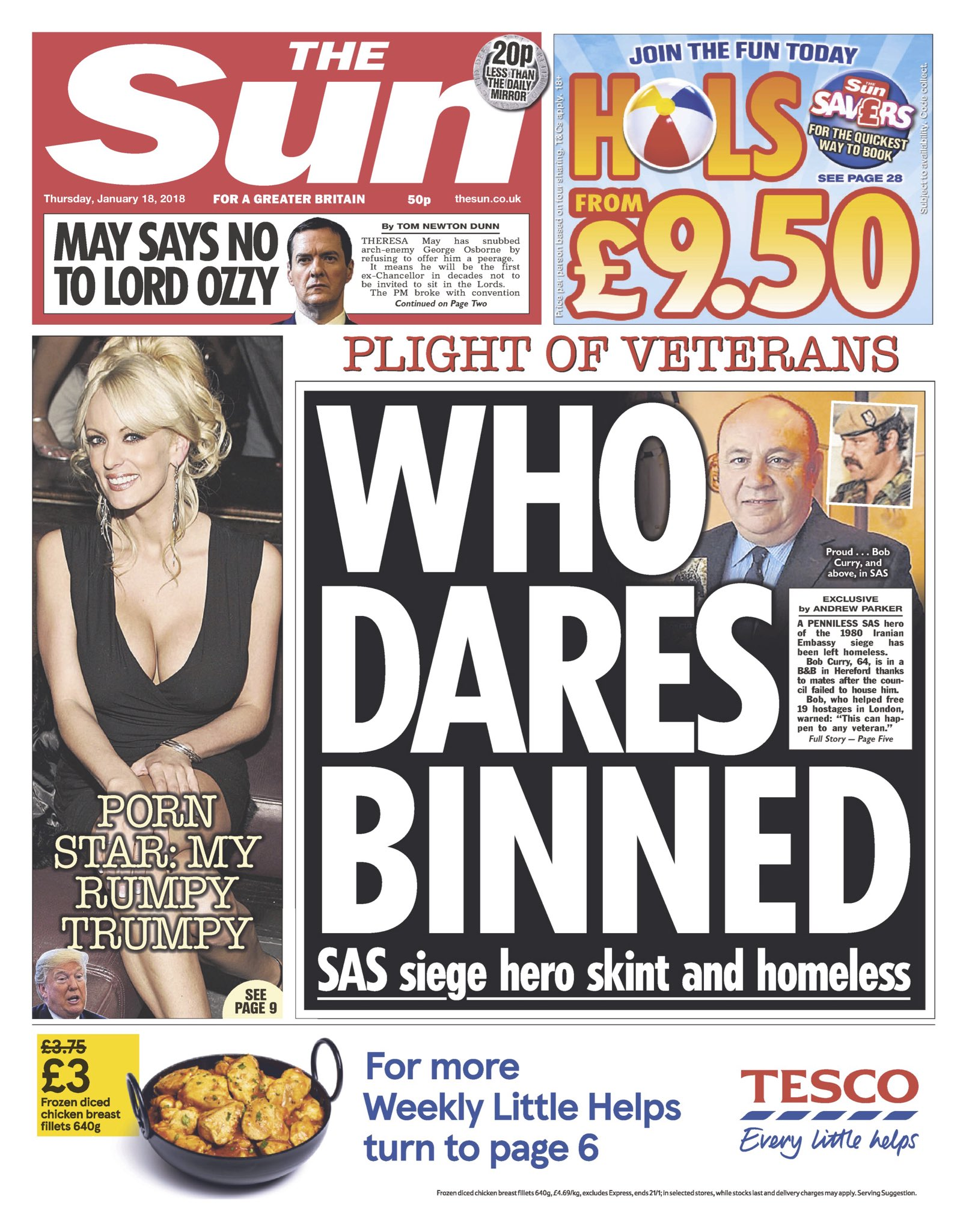 Thursday's Sun 'Who dares binned'   #tomorrowspaperstoday #bbcpapers (via @hendopolis) https://t.co/HzuDeqdR8A