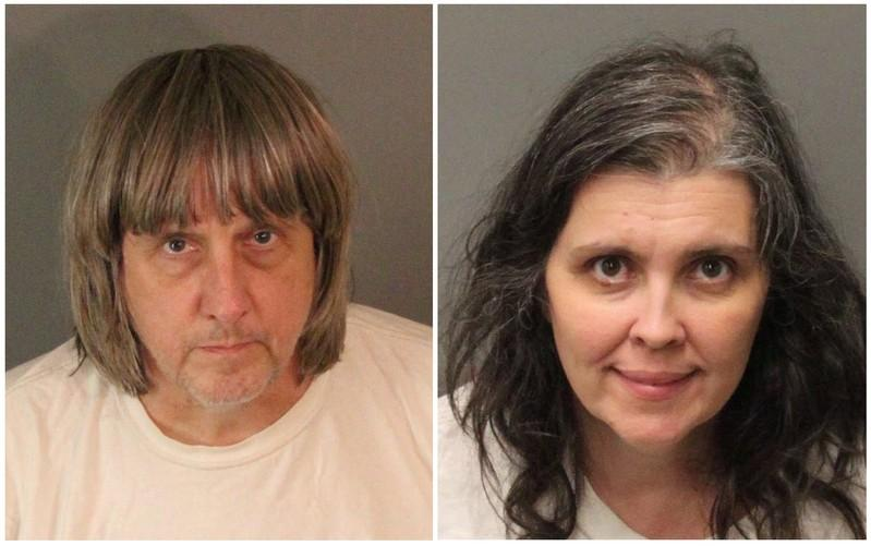 Police comb through filthy California home where starving siblings found