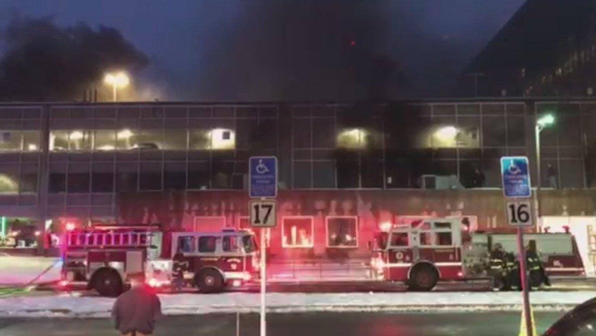 Fire breaks out at UMass Medical School parking garage