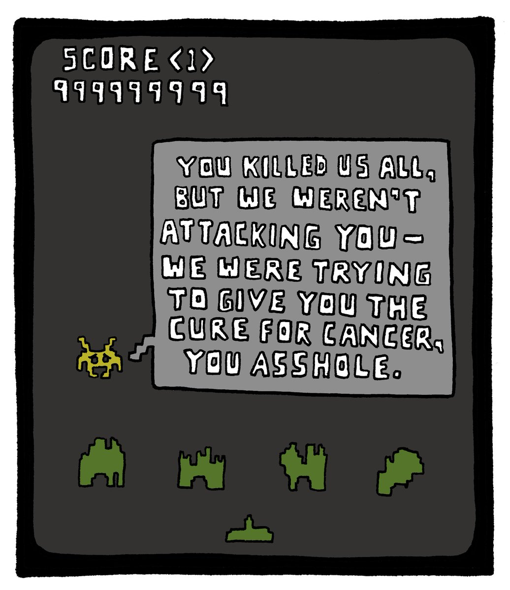 RT @joeyalison: I finally beat Space Invaders!!! https://t.co/uwnoqAiRjY