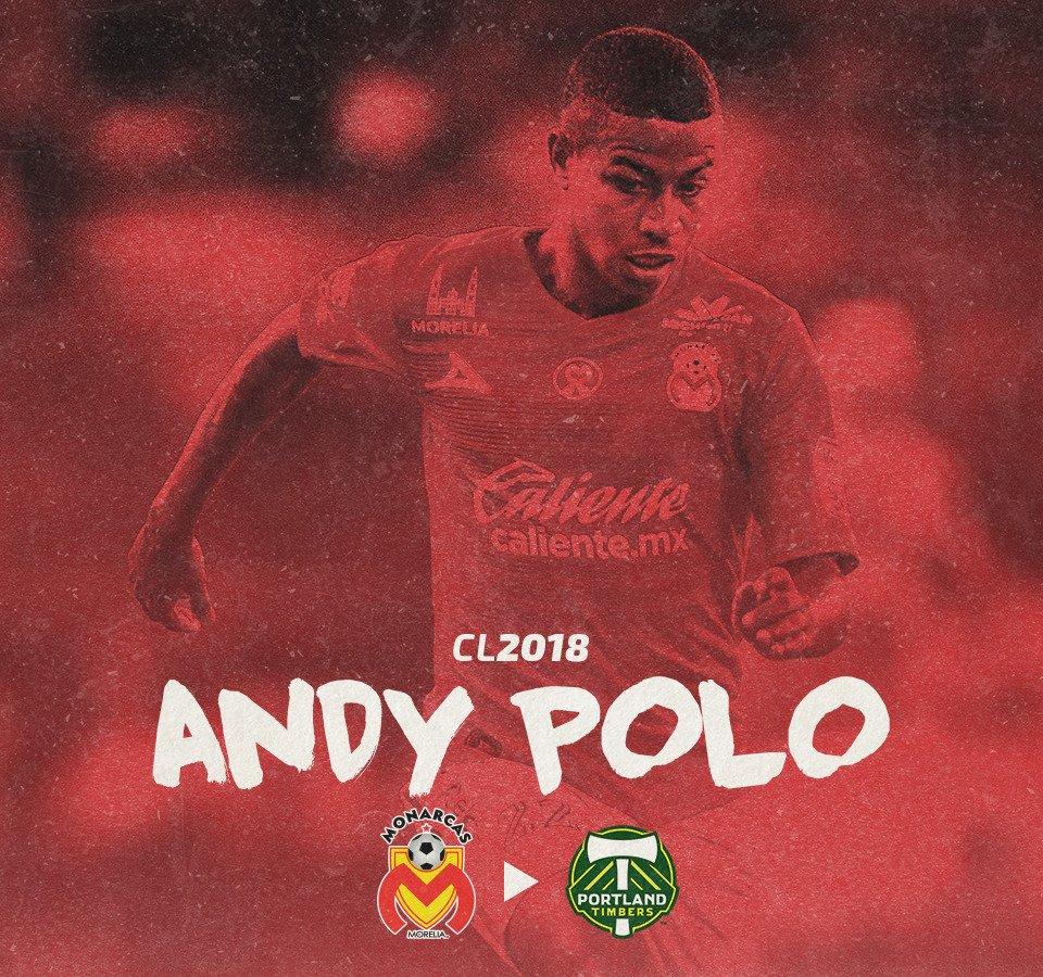 #MonarcasMorelia dio a conocer que el peruano Andy Polo ha sido cedido al Portland Timbers de la MLS. https://t.co/X0ghUOvOOu