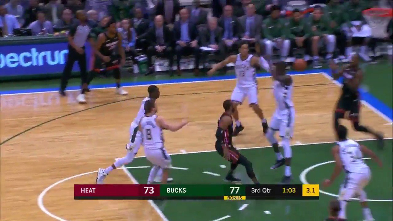Wayne Ellington dazzled with his handle and dished it off to Adebayo for tonight's #AssistOfTheNight!   #HEATCulture https://t.co/6ClPVdSUNt