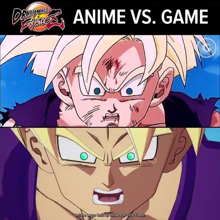 Dragon Ball Fighterz game vs. the anime https://t.co/BmoEpDcODb