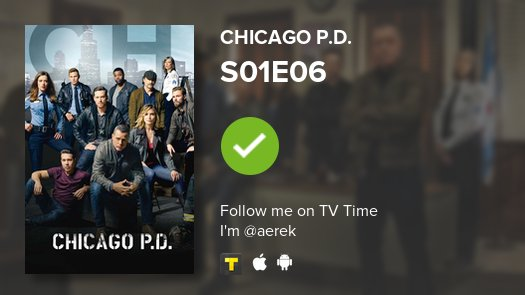 I've just watched episode S01E06 of Chicago P.D.! #chicagopd  #tvtime https://t.co/pSAnaeulBj https://t.co/Thokq1vmXQ