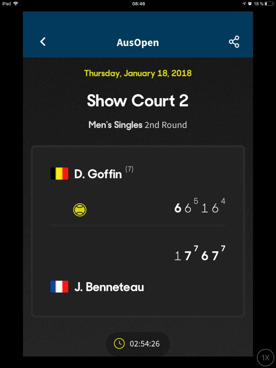 #AusOpen c'est fini pour @David__Goffin éliminé au 2e tour en 4 sets par Benneteau https://t.co/vfpfv1Jz5K