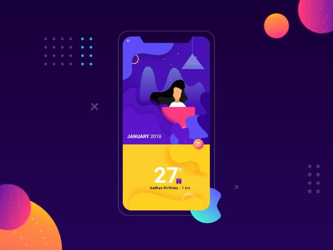 Event Calendar by Bharath  freebie