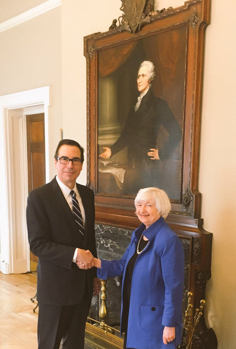 RT @stevenmnuchin1: Thank you @federalreserve Chair Janet Yellen for your service to this great nation! https://t.co/ZQko4cLNWF