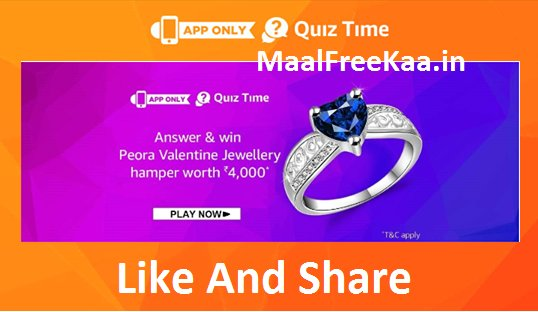 Peora Jewellery Quiz Time Answer Win Peora Hampers