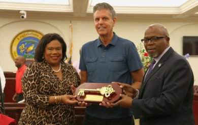 Paradise Jam Founder Honored With Key to the Territory