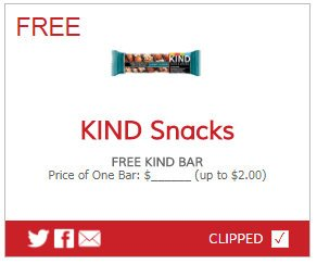 free kind bar printable coupon! freebies coupons couponing couponcommunity deals