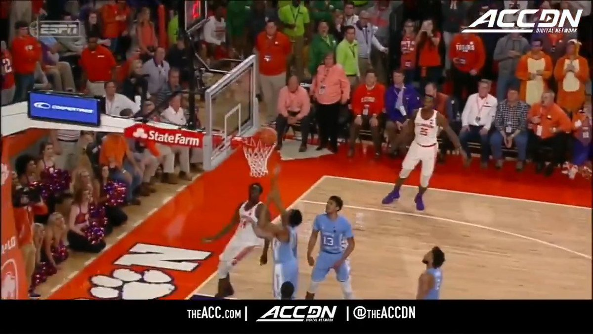 RT @theACCDN: First win over UNC since 2010? This is the bucket that sealed it for @ClemsonMBB! https://t.co/0zQIE6iWhM