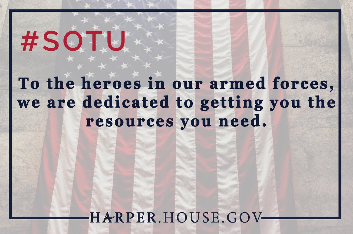 It's time to fully fund our great military. #SOTU https://t.co/zX4neisKxb