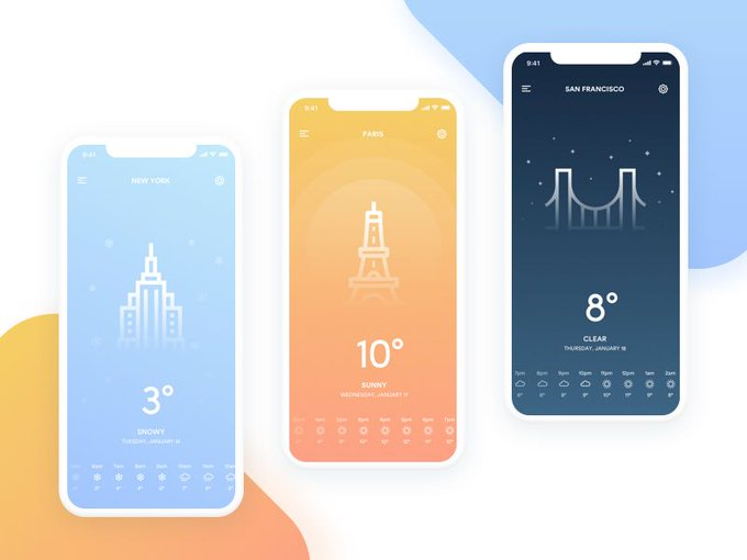 Weather App by guzmanbarquin freebie