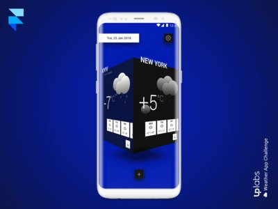 Weather App Concept by OnwebdevNet freebie