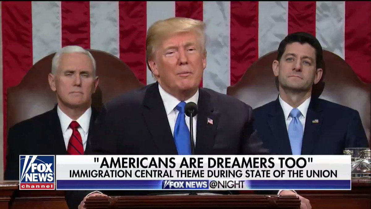 """Americans are Dreamers too"" — Immigration was a central theme during"