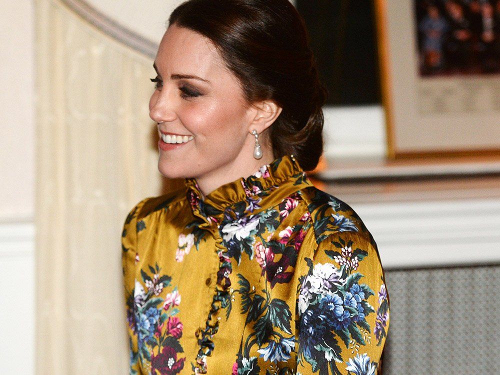 Pregnant Kate Middleton Opts For A Statement Floor-Length Yellow Gown