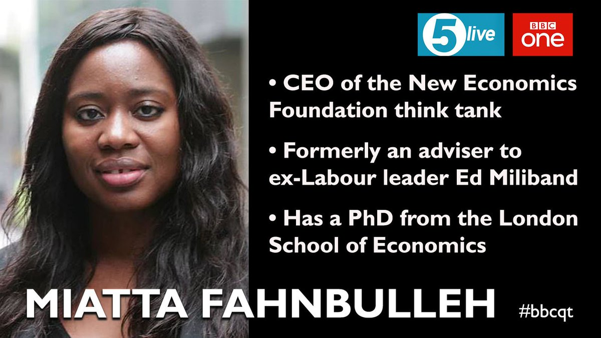 RT @bbcquestiontime: Making her #bbcqt debut this week: @NEF boss @Miatsf (3/5) https://t.co/FUZGgozzAA
