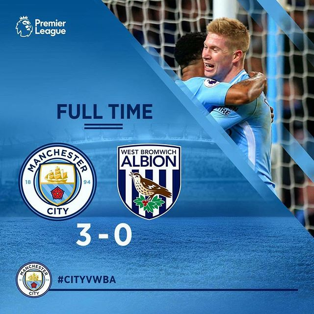 Full Time: Manchester City 3 - 0 West Bromwich Albion 📷: @mancityturkey https://t.co/og3S8WcDHu