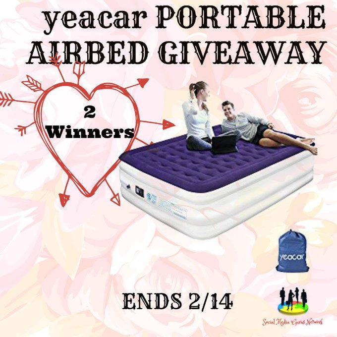 Portable Airbed Giveaway 2 winners