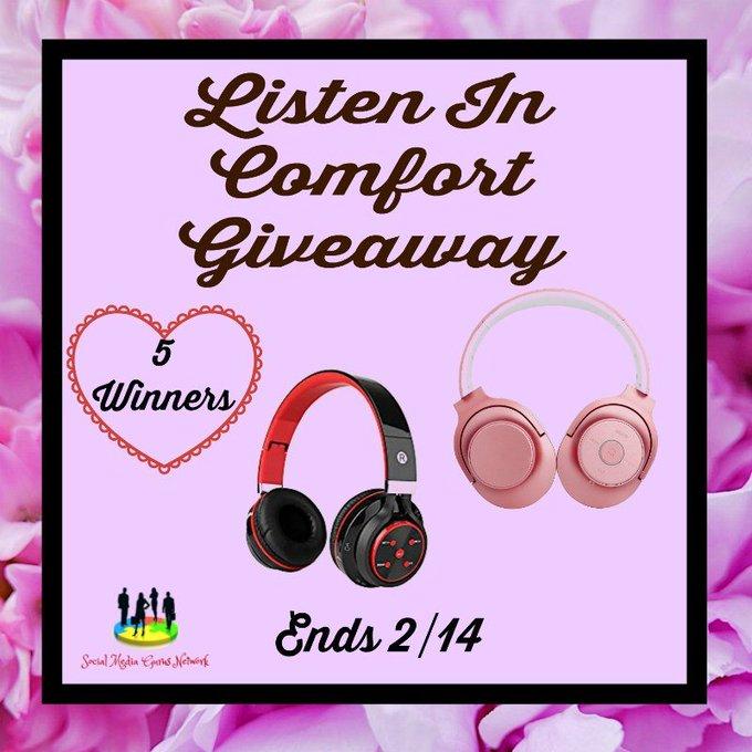 Listen In Comfort Giveaway