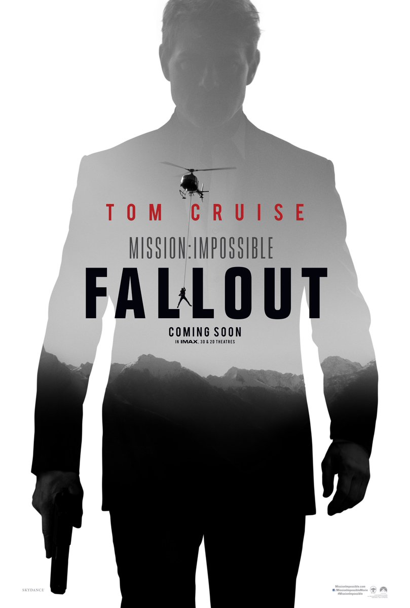 Check out the first poster for #MissionImpossible Fallout https://t.co/6dxtZ6vayl