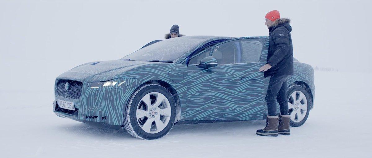 Jaguar IPace Caught Up Close Peeling Off Camouflage