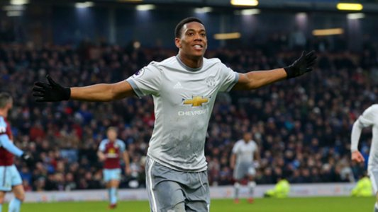 Martial records Man Utd first with goal against Burnley