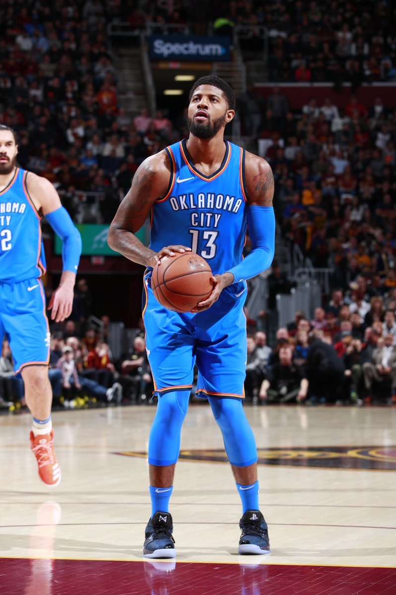 """f8a07c787133 Paul George debuts the Nike PG2 """"PlayStation"""" vs. Cleveland  ThunderUp"""