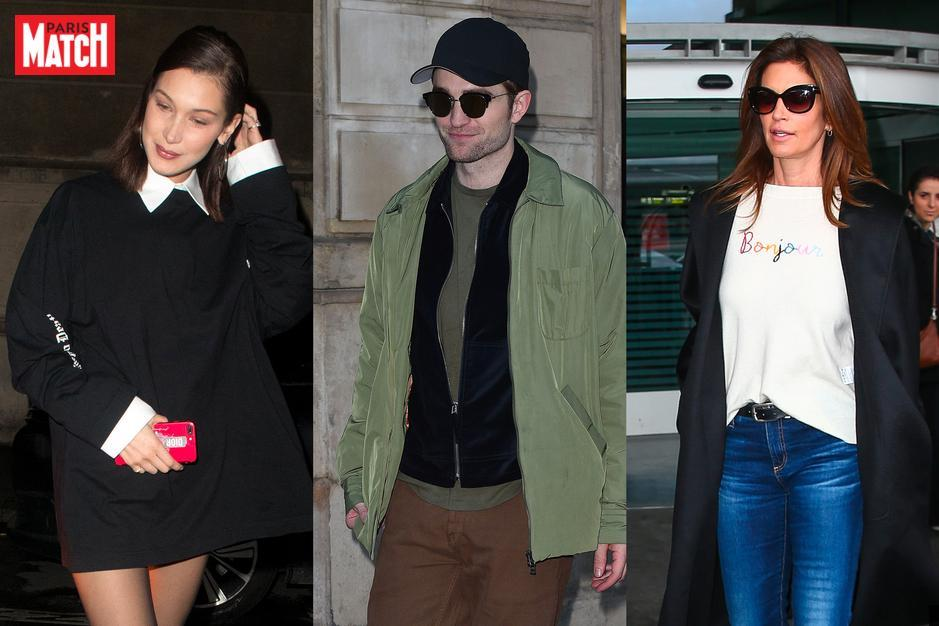 Robert Pattinson, Cindy Crawford, Bella Hadid… Les stars à Paris pour la Fashion Week