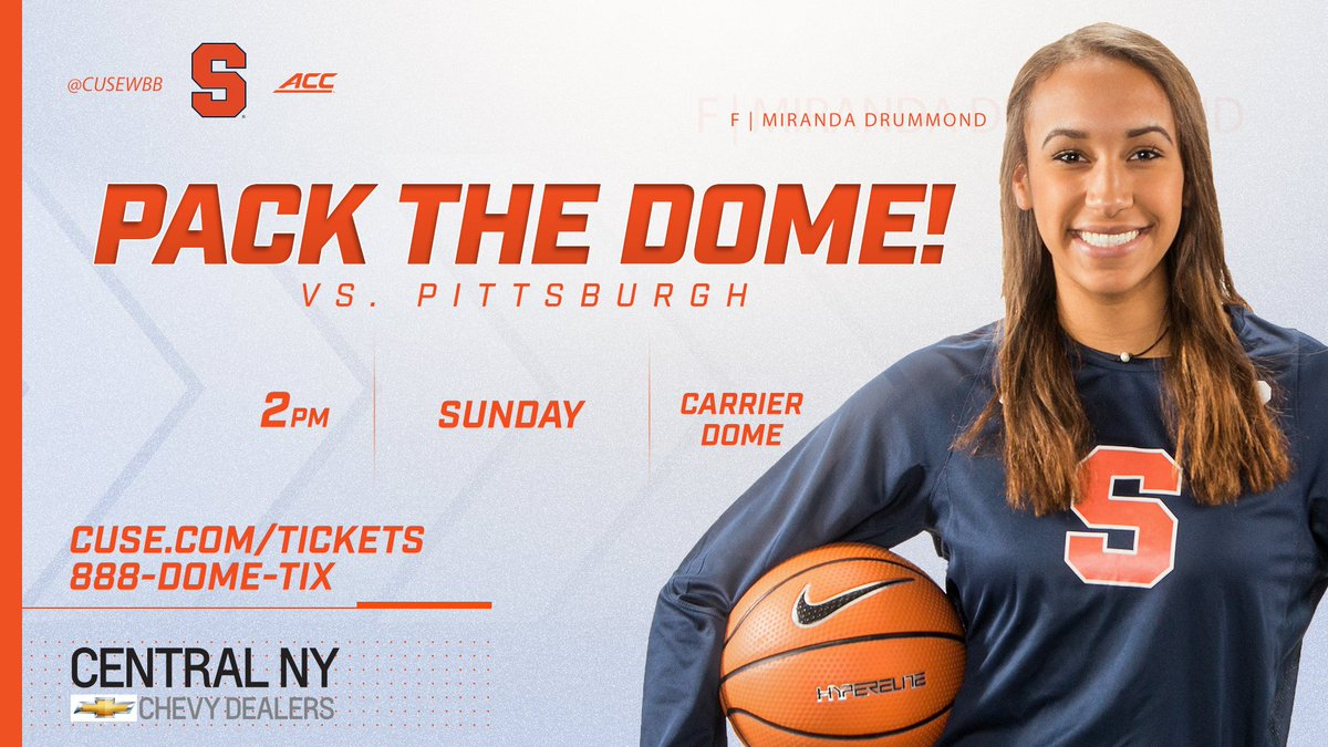 Who's coming to the Dome to help set a new @CuseWBB attendance record on Sunday?  🎟️ https://t.co/2gEoN1f6SF https://t.co/WALxxsBmh2