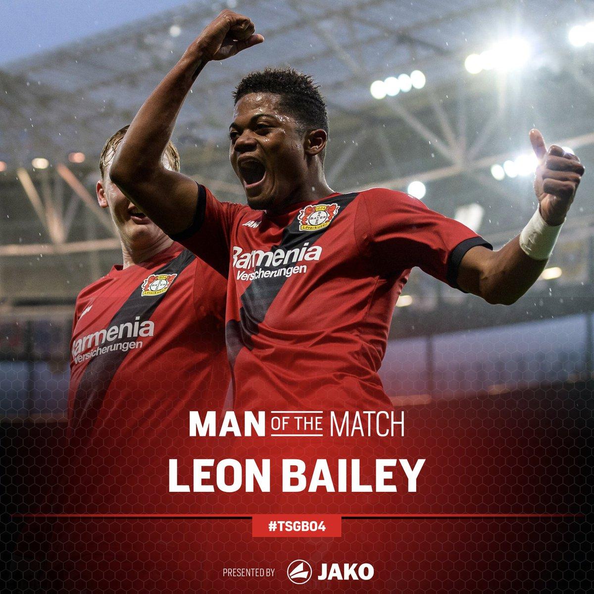 RT @bayer04fussball: Keine Frage - euer Mann des Spiels! 🖤❤️  Herzlichen Glückwunsch @leonbailey! 👏  #TSGB04 https://t.co/8tCwxkVK8m