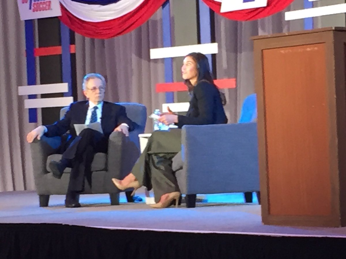 JP Dellacamera puts the questions to Hope Solo. #USSFPresident #PHL18 https://t.co/GxQoth7oUk