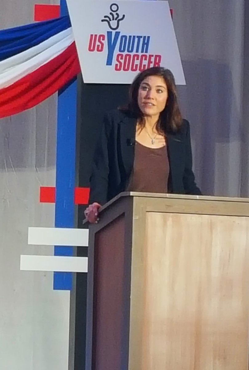 Hope Solo speaking at the US Soccer Presidential Candidate Forum in Philly #usys https://t.co/QyWUxGhyqm