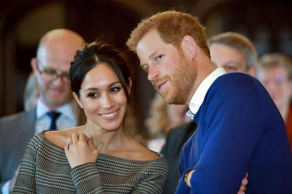 Prince Harry and Meghan Markle were gifted a pretty amazing wedding cake