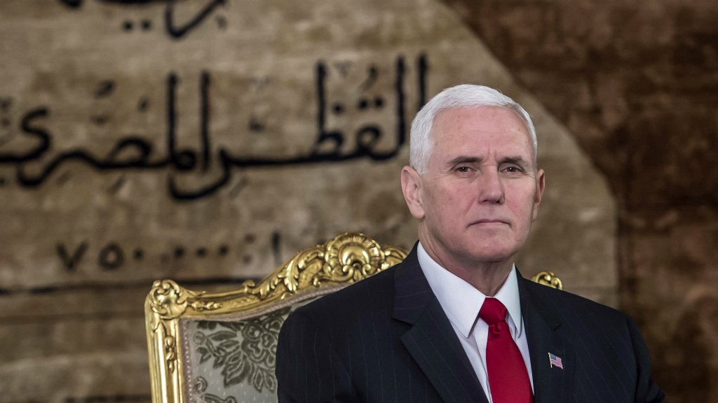 Pence starts Middle East tour in Egypt amid Arab anger over Jerusalem