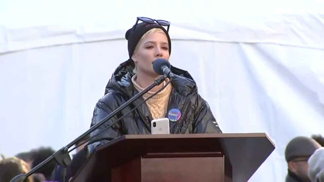"""here is my entire """"A Story Like Mine"""" poem from today's #WomensMarch2018 in NYC tw: rape / assault. Thank you. https://t.co/l3fji73woM"""