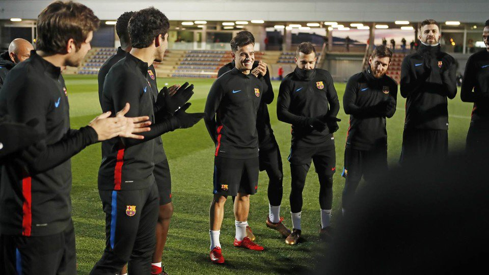 �� ���� Bem-vindo! Great to see @Phil_Coutinho training with his new Barça team-mates today! ���� #ForçaBarça https://t.co/hw6iGHCJKB