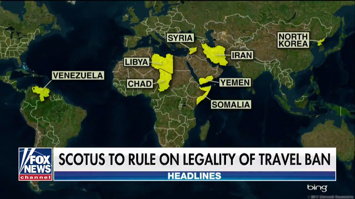 SCOTUS to rule on legality of travel ban.