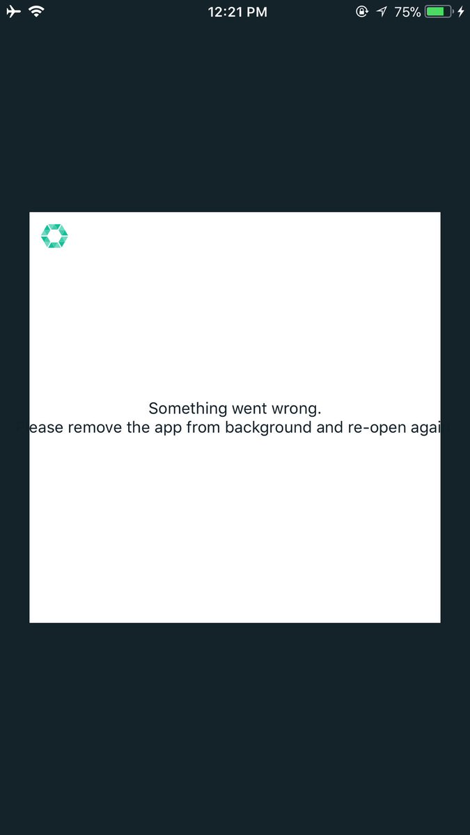 @COBINHOOD can't even open up the app https://t.co/7paSoEomPu
