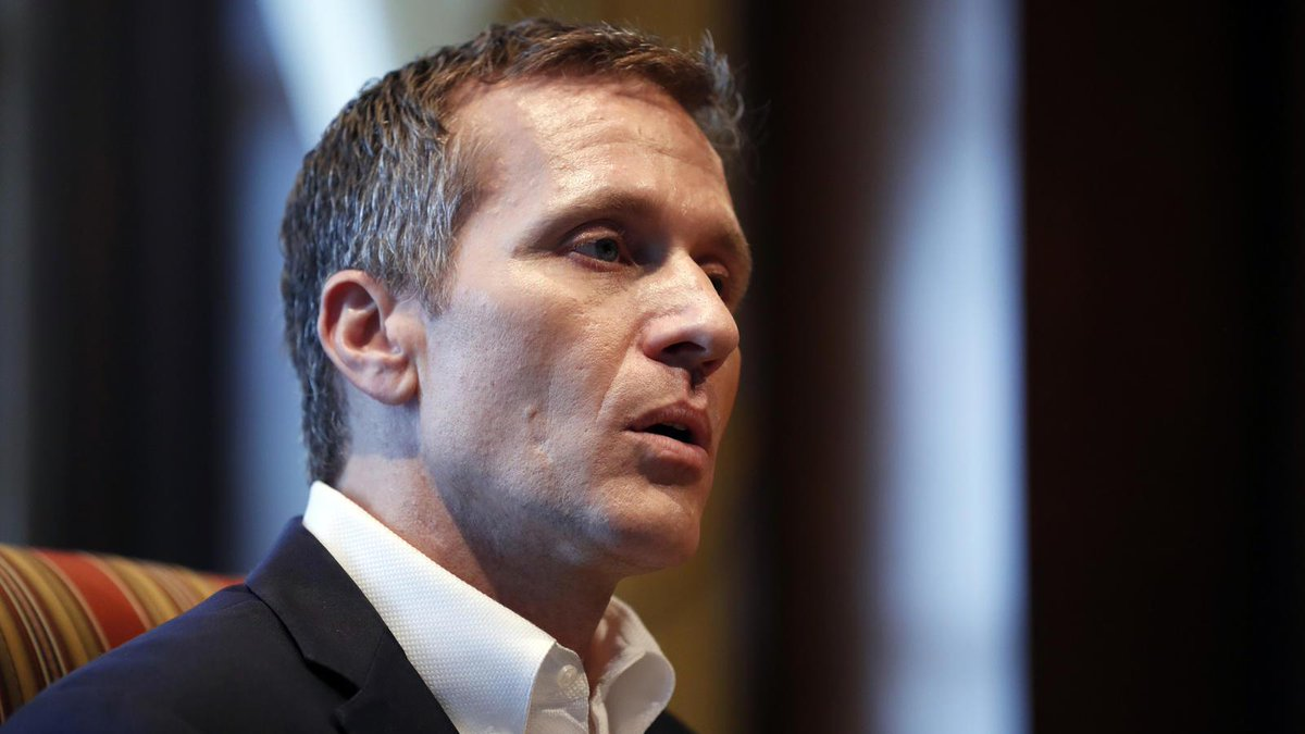 """In first interview since admitting extramarital affair, Missouri governor says """"no blackmail"""" and """"no threat of violence,"""" adding he has no plan to resign https://t.co/9gXlokRvMu https://t.co/wQJBARKHcL"""