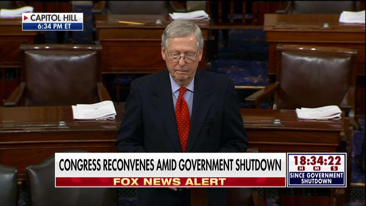 LIVE: @SenateMajLdr speaks on the Senate floor amid government shutdown https://t.co/NLv1ehbKnZ