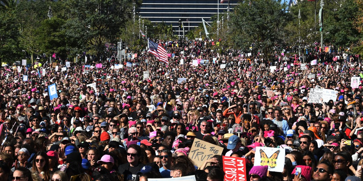 LA Mayor Eric Garcetti says an estimated 500,000 people took to the streets in support of today's Women's March https://t.co/IjNyZRPKe4