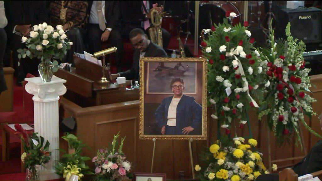 Hundreds bid farewell to Civil Rights icon Frankie Muse Freeman