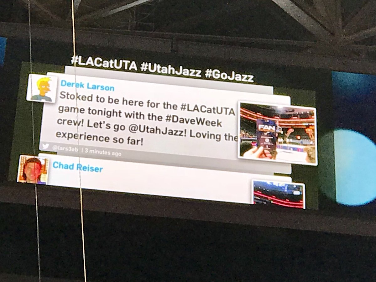 Holy basketballs, I'm famous! Go @UtahJazz! #LACatUTA #DaveWeek https://t.co/G0LX1uSzKX